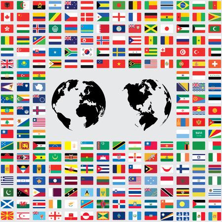 banderas del mundo: Un ilustraciones aisladas de las Banderas del Mundo