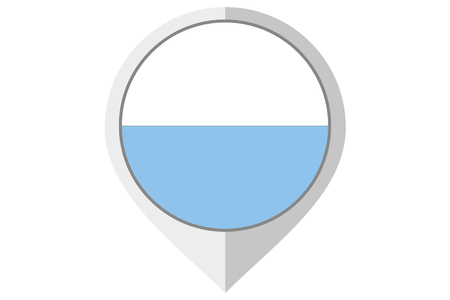 marino: A Flag Illustration inside a pointed of the country of San Marino