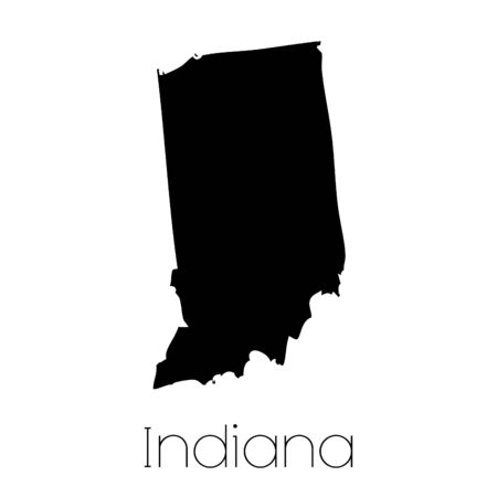 indiana: An Illustrated Shape of the State of Indiana