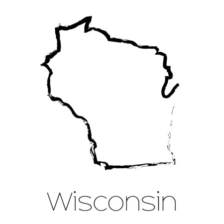 state of wisconsin: A Scribbled shape of the State of Wisconsin