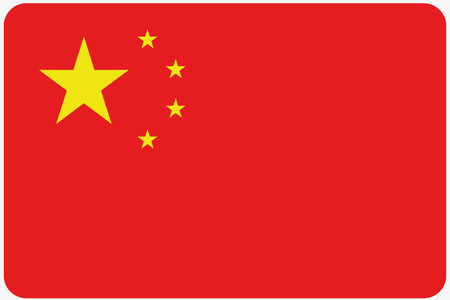 china flag: A Flag Illustration with rounded corners of the country of China