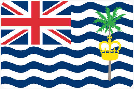 indian ocean: A Flag Illustration with rounded corners of the country of British Indian Ocean Territory