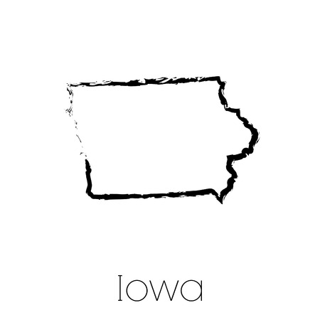 scribbled: A Scribbled shape of the State of Iowa