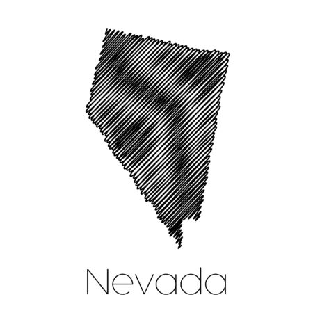 scribbled: A Scribbled shape of the State of Nevada