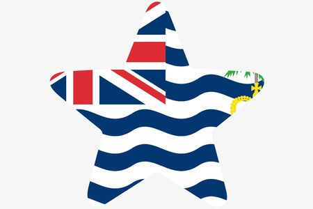 indian ocean: A Flag Illustration inside a star of the country of British Indian Ocean Territory Stock Photo