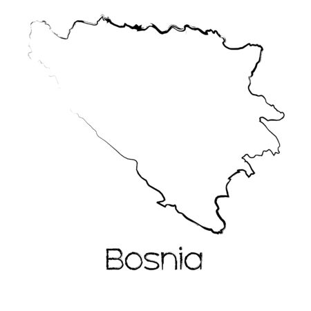 scribbled: A Scribbled Shape of the Country of Bosnia