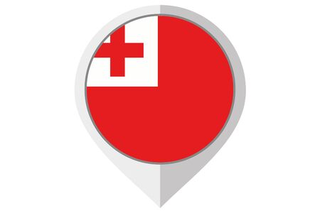 tonga: A Flag Illustration inside a pointed of the country of Tonga Stock Photo