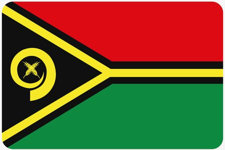 vanuatu: A Flag Illustration with rounded corners of the country of Vanuatu