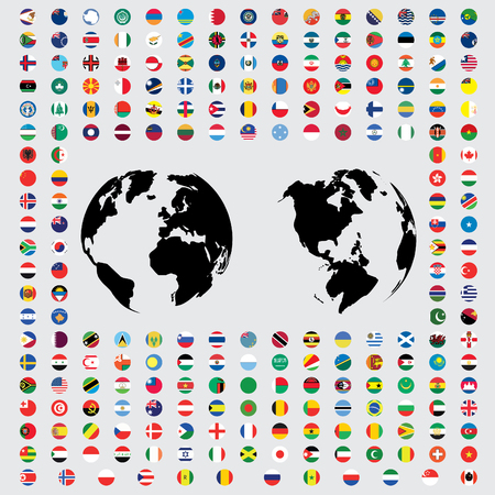world flags: An Isolated Illustrations of the Flags of the World Stock Photo