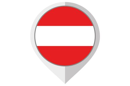 austria: A Flag Illustration inside a pointed of the country of Austria Stock Photo