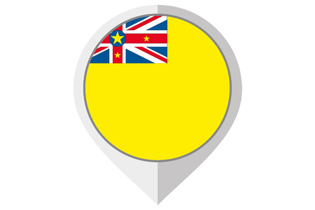 niue: A Flag Illustration inside a pointed of the country of Niue