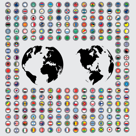 flags of the world: An Isolated Illustrations of the Flags of the World Stock Photo