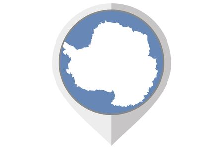 antartica: A Flag Illustration inside a pointed of the country of Antartica