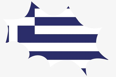 wit: An Explosion wit the flag of Greece Stock Photo