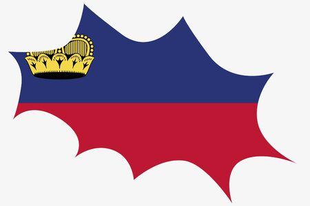 liechtenstein: An Explosion wit the flag of Liechtenstein