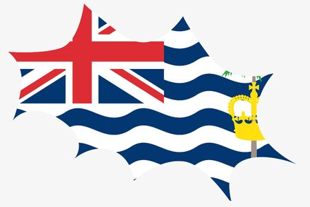indian ocean: An Explosion wit the flag of British Indian Ocean Territory