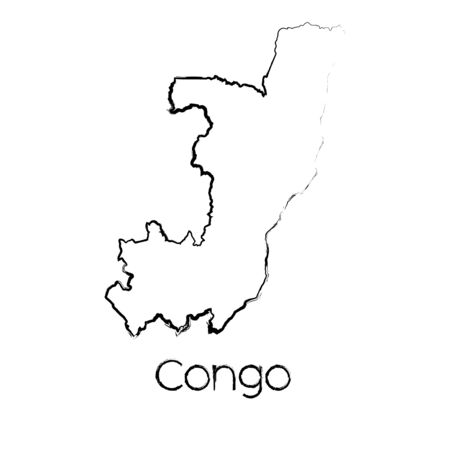 scribbled: A Scribbled Shape of the Country of Congo