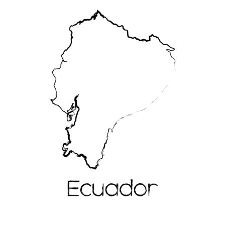 scribbled: A Scribbled Shape of the Country of Ecuador
