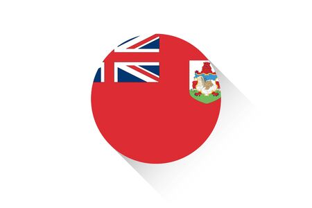 bermuda: A Round flag with shadow of Bermuda Stock Photo