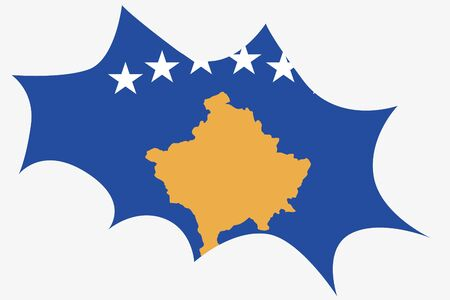 wit: An Explosion wit the flag of Kosovo