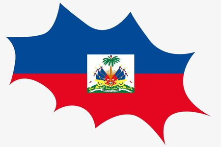wit: An Explosion wit the flag of Haiti