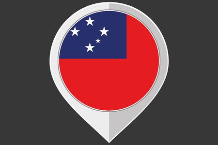 samoa: A Pointer with the flag of Western Samoa