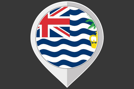 indian ocean: A Pointer with the flag of British Indian Ocean Territory Stock Photo