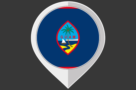 guam: A Pointer with the flag of Guam