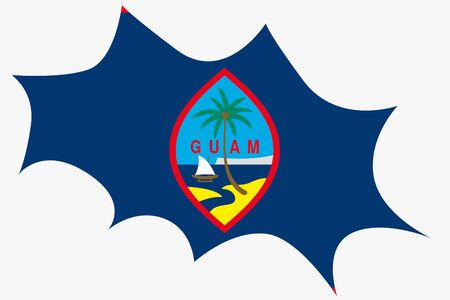 guam: An Explosion wit the flag of Guam