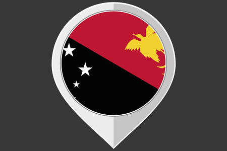 papua: A Pointer with the flag of Papua New Guinea
