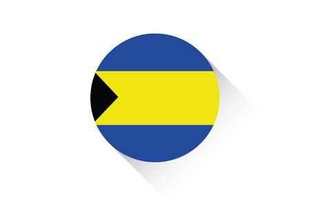bahamas: A Round flag with shadow of Bahamas Stock Photo