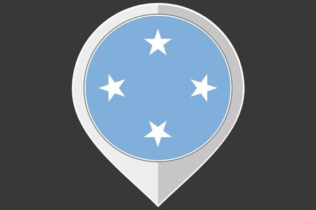micronesia: A Pointer with the flag of Micronesia