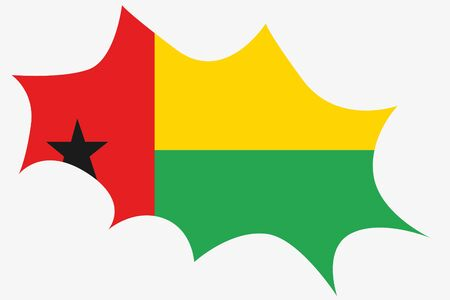spikey: An Explosion wit the flag of Guinea Bissau Stock Photo