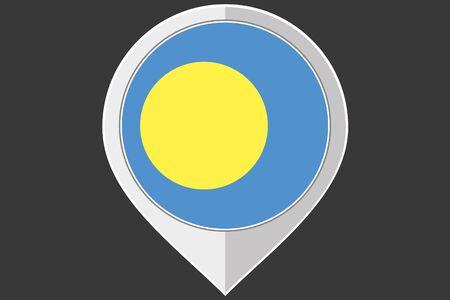 palau: A Pointer with the flag of Palau Stock Photo