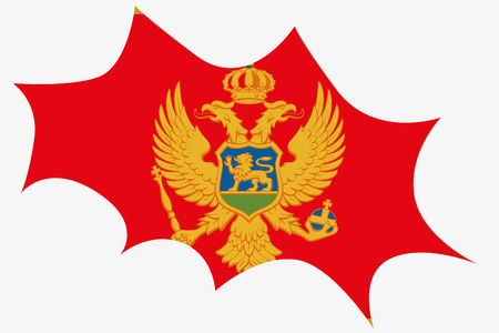 wit: An Explosion wit the flag of Montenegro