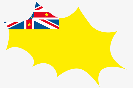 niue: An Explosion wit the flag of Niue Stock Photo