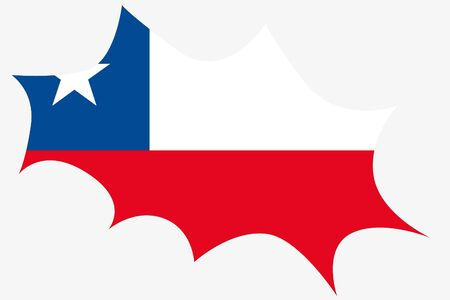 chile: An Explosion wit the flag of Chile