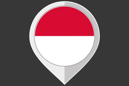 monaco: A Pointer with the flag of Monaco
