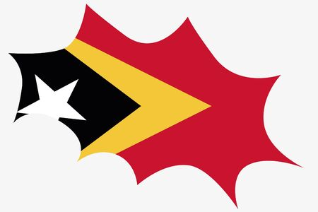 timor: An Explosion wit the flag of East Timor Stock Photo