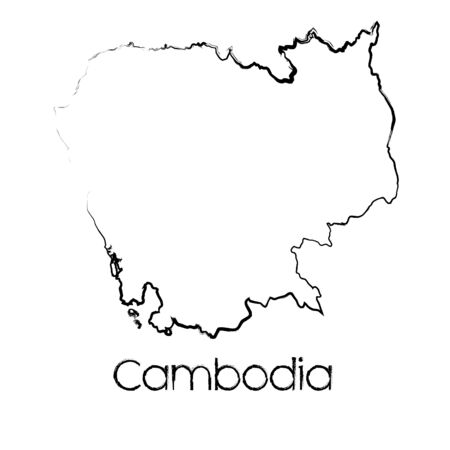 scribbled: A Scribbled Shape of the Country of Cambodia