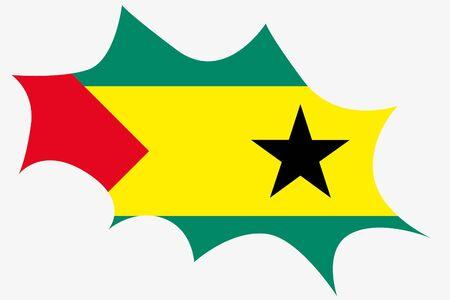 principe: Una explosi�n de ingenio la bandera de Santo Tom� y Pr�ncipe