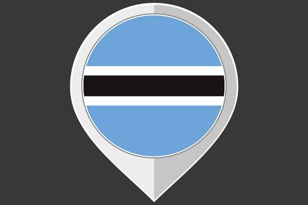 botswana: A Pointer with the flag of Botswana