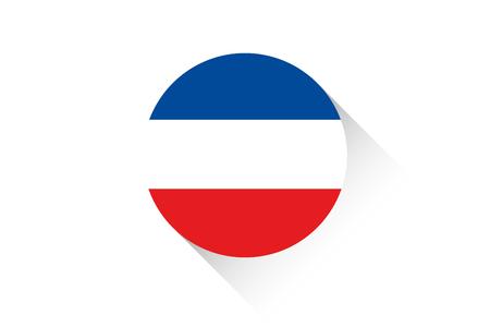yugoslavia: A Round flag with shadow of Yugoslavia Stock Photo