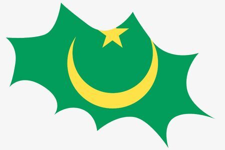 mauritania: An Explosion wit the flag of Mauritania