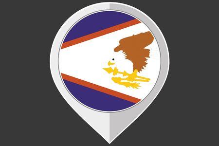samoa: A Pointer with the flag of American Samoa