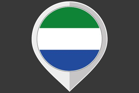 sierra: A Pointer with the flag of Sierra Leone