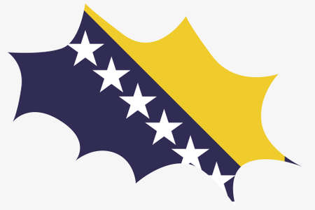 bosnia: An Explosion wit the flag of Bosnia