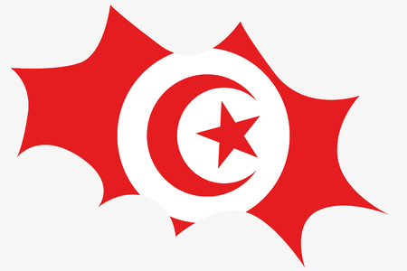 wit: An Explosion wit the flag of Tunisia