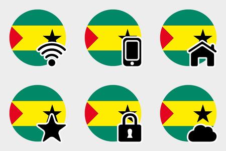 principe: A Web Icon Set with the Flag of Sao Tome E Principe Foto de archivo