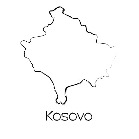 scribbled: A Scribbled Shape of the Country of Kosovo
